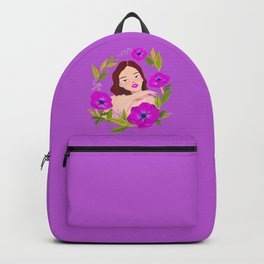 Girl and Anemone Backpack