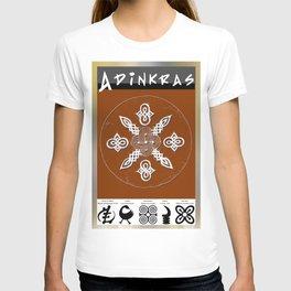 Adinkra Symbol Clock T-shirt