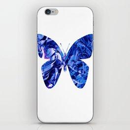 Fluid Butterfly (Blue Version) iPhone Skin