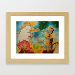 Canute the Goldfish Framed Art Print