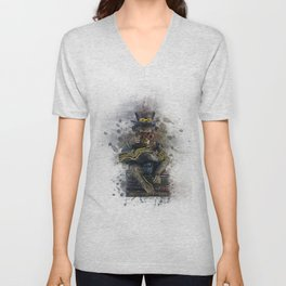 Steampunk Monkey Unisex V-Neck