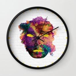 Holi Mask Wall Clock