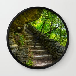 Stone Steps - Clifty Falls Overlook - Indiana Wall Clock
