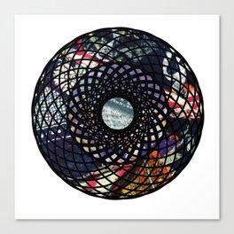 Mandala with Fabric Canvas Print