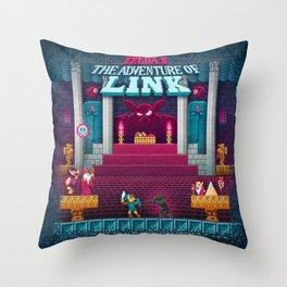 The Link Adventure of Zelda, too Throw Pillow