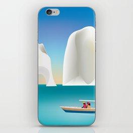 Capri, Italy- Skyline Illustration by Loose Petals iPhone Skin