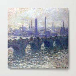Monet Bridge Metal Print