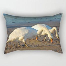 Mute Swans Rectangular Pillow