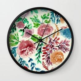 Roses Blooming Wall Clock