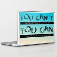 motivation Laptop & iPad Skins featuring Surf Motivation by Goretti