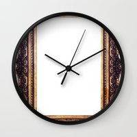 frame Wall Clocks featuring Frame by GetNaked