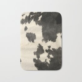 Black & White Cow Hide Bath Mat