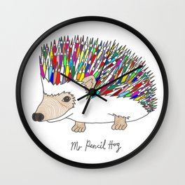 Mr Pencil Hog Wall Clock