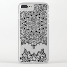 Stars and Stripes - Patriotic Mandala - Black and White - 'Merica! Clear iPhone Case