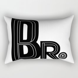 Bro - Black & White Typography Rectangular Pillow