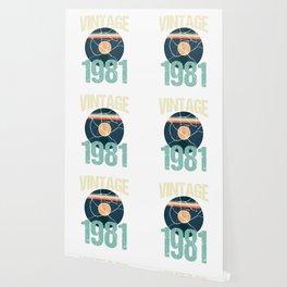 Retro Vintage 1981 39 th Birthday Record Vinyl Vintage Disco Bday Gift Wallpaper