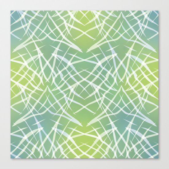 Abstract pattern .    Yellow blue . Canvas Print