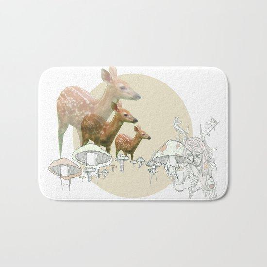 Deer, creatures Bath Mat