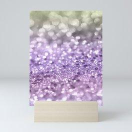 Purple Lavender Glitter #1 #shiny #decor #art #society6 Mini Art Print