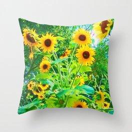 Yellow Splender Throw Pillow