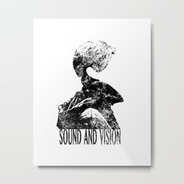 Sound and vision #black Metal Print