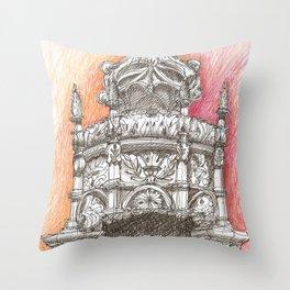 Sta Maria crown Throw Pillow