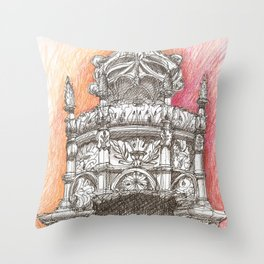 Sta Maria crown Throw Pillow