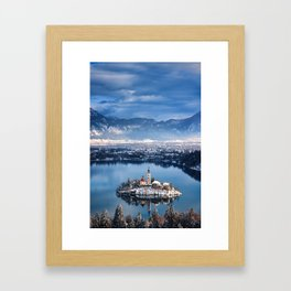 Small Island On The Lake Framed Art Print