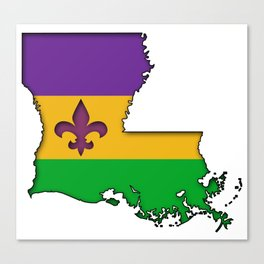 Louisiana Mardi Gras Love! Canvas Print