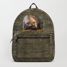 Grizzly Bear Makes Eye Contact Backpack