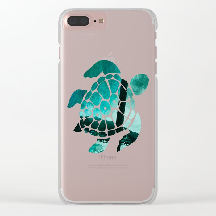 Tempest Island (Colder Version) Clear iPhone Case