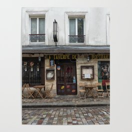Cafe in Monmartre Paris Poster