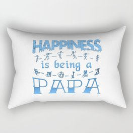 Happiness is Being a PAPA Rectangular Pillow