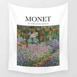 Monet - The Artist's Garden at Giverny Wall Tapestry