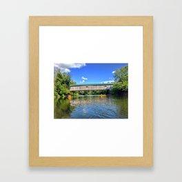 Vermont River Kayaking Framed Art Print