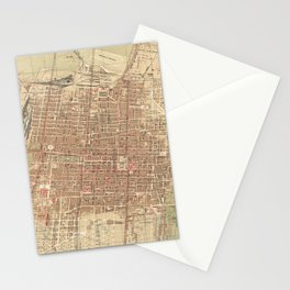 Vintage Map of Mexico City (1907) Stationery Cards