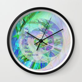 The Only Journey Is The One Within / Rilke Wall Clock
