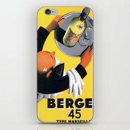 Vintage poster - Berger iPhone Skin