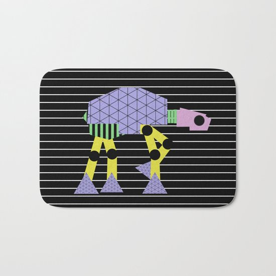 Geometric AT-AT Walker (Pastel Shapes Artwork - Cult Film) Bath Mat
