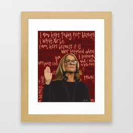 Dr. Christine Blasey Ford. Framed Art Print