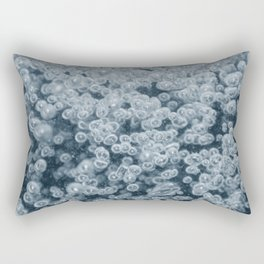 Underwater bubbles. Air bubbles in water. Rectangular Pillow