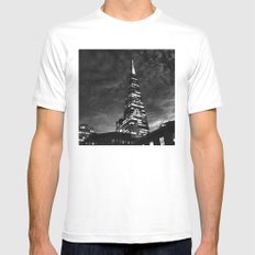 Tower White MEDIUM Mens Fitted Tee