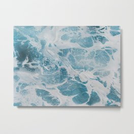 Sea Foam 1: A pastel painting made for modern interiors by Lisa Fogt Metal Print