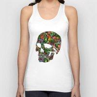 tiki Tank Tops featuring Tiki Skull by spacecolour