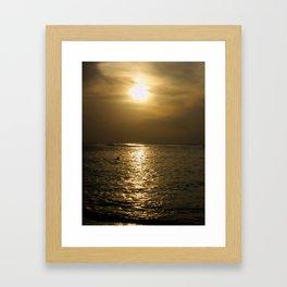 Caribbean Sunset Framed Art Print