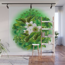 Passion Flowers on Tropical Jungle Wall Mural