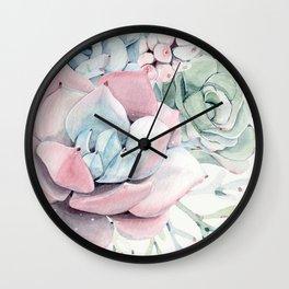 Garden of Succulents Wall Clock