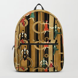 Art Deco Charleston Dancers Pattern Backpack