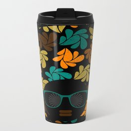 Afro Diva: Fall Colors Brown Gold Teal Travel Mug