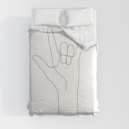 Love Hand Gesture Comforters